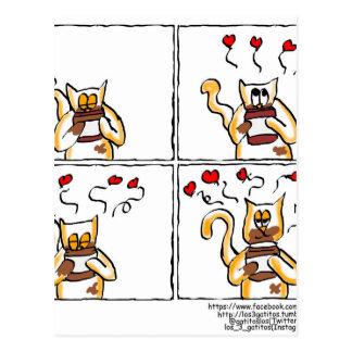 Liebe ist Nutella Postkarte