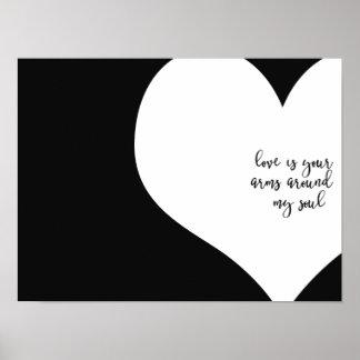 Liebe ist Plakat
