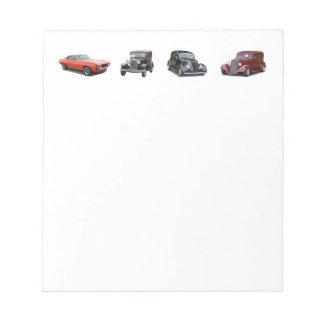 Liebe jene alten klassischen Autos Notizblock
