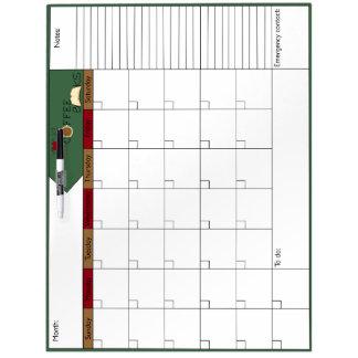 Liebe, Kaffee, bucht Kalender 6W Memoboard