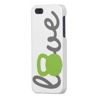 Liebe Kettlebell Grün iPhone 5 Schutzhüllen