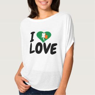 Liebe-Liebet-shirt Entwurfs-St. Patricks Day des T-Shirt