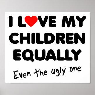 Liebe mein Kinderlustiges Plakat