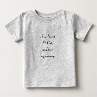 """Liebe mein Mama"" Baby-feiner Jersey-T - Shirt, Baby T-shirt"
