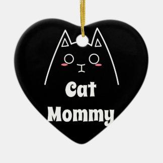 Liebe meine Katzen-Mama Keramik Ornament