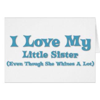 Liebe meine kleine Schwester Karte