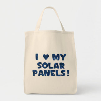 Liebe meine Solarplatten Einkaufstasche
