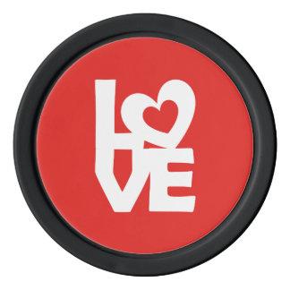 Liebe mit Herzen Poker Chip Sets