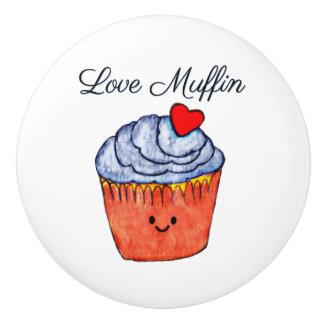 Liebe-Muffin-Blau Keramikknauf