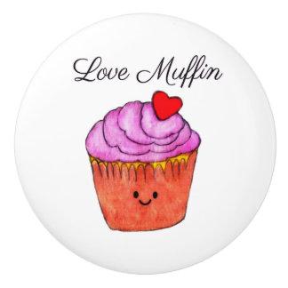 Liebe-Muffin-Rosa Keramikknauf