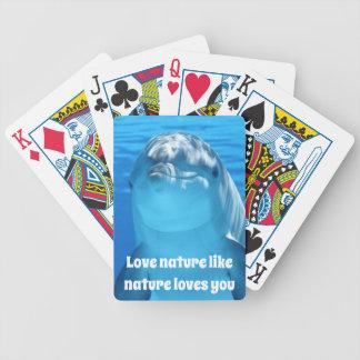 Liebe-Natur-Delphin-Spielkarten Bicycle Spielkarten