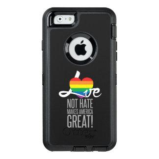 Liebe-nicht Hass (Regenbogen) iPhone u. Samsung OtterBox iPhone 6/6s Hülle