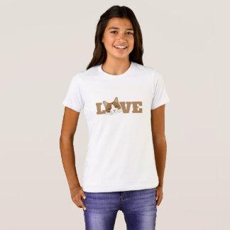 LIEBE - niedlicher glücklicher lächelnder T-Shirt