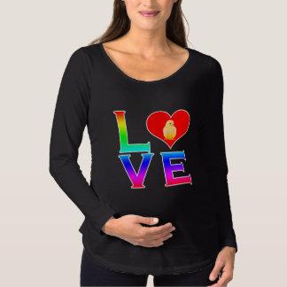 LIEBE: Niedliches Küken Umstands-T-Shirt