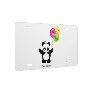 Liebe Panda® US Nummernschild
