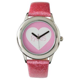 Liebe-Paris-Herz Uhren