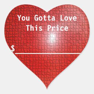 Liebe-Preis-Aufkleber Herz-Aufkleber