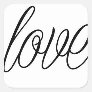 Liebe Quadratischer Aufkleber