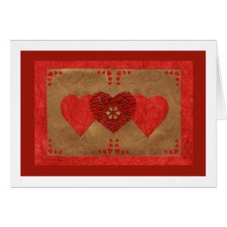 Liebe-Reihen-Collage - Herz # 23 Grußkarte