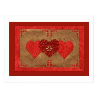 Liebe-Reihen-Collage - Herz # 23 Postkarte