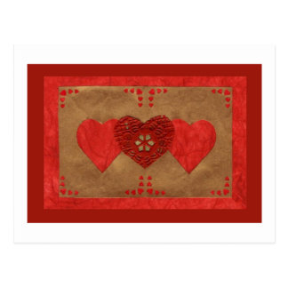 Liebe-Reihen-Collage - Herz # 23 Postkarten