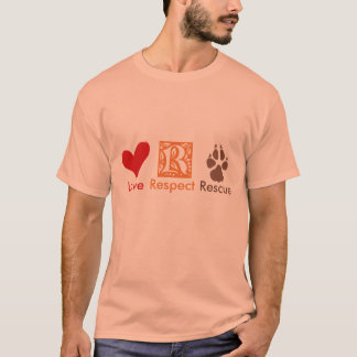 """Liebe-Respekt-Rettungs-"" Tierrettung u. Adoption T-Shirt"