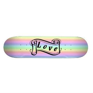 Liebe Schriftrolle auf Regenbogen 18,1 Cm Old School Skateboard Deck