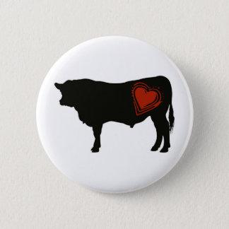 Liebe-schwarzes Angus-Rindfleisch Runder Button 5,1 Cm