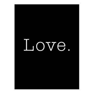 Liebe. Schwarzweiss-Liebe-Zitat-Schablone Postkarten
