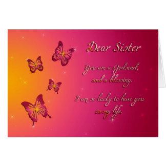 Liebe Schwester-alles Gute zum Geburtstag Karte