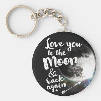 Liebe Sie zum Mond u. zur Rückseite wieder • Schlüsselanhänger