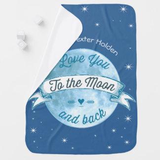 Liebe Sie zum Mond und hinteren zum Lil Babydecke