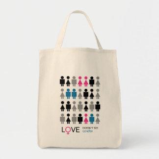 Liebe sieht nicht Geschlechts-Taschen-Tasche Tragetasche