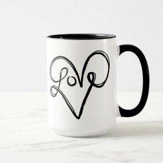 Liebe-Typografie-Text-Kunst Tasse