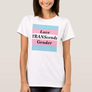 Liebe überschreitet Geschlechts-Frau-T - Shirt