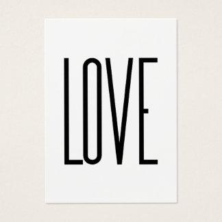 Liebe - unbedeutender Entwurf Visitenkarte