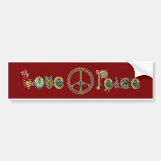 Liebe-und FriedensAutoaufkleber Autoaufkleber