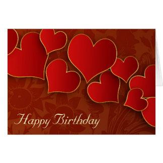 Liebe- und Geburtstagsgrüße Karte