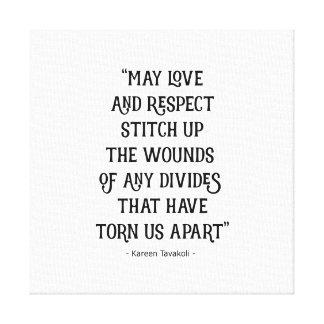 Liebe- und Respekt-Leinwandplakat Leinwanddruck