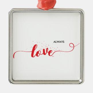 Liebe-Valentinsgruß-Wirbel Silbernes Ornament