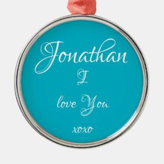 """LIEBE Verzierungs-niedliche """"Jonathans I, die SIE"""" Silbernes Ornament"""