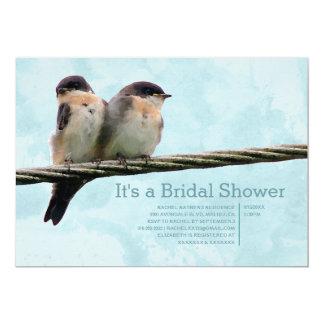 Liebe-Vogel-Brautparty-Einladungen 12,7 X 17,8 Cm Einladungskarte