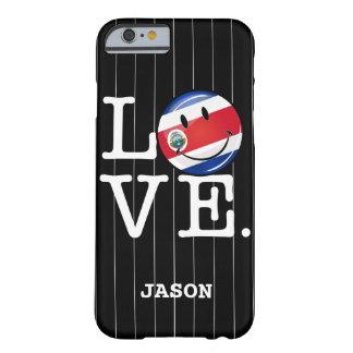 Liebe von Coasta Rica lächelnder Flagge Barely There iPhone 6 Hülle