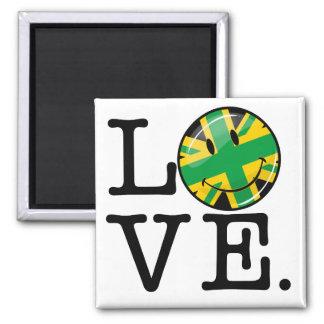 Liebe von Jamaika und von Großbritannien Quadratischer Magnet