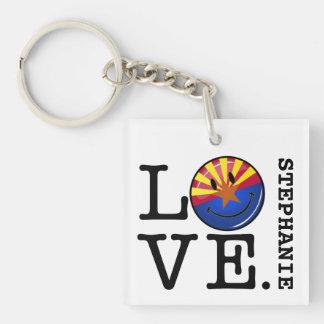 Liebe von lächelnder Flagge Arizonas Schlüsselanhänger