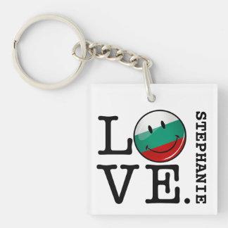 Liebe von lächelnder Flagge Bulgariens Schlüsselanhänger