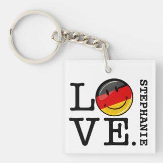 Liebe von lächelnder Flagge Deutschlands Schlüsselanhänger