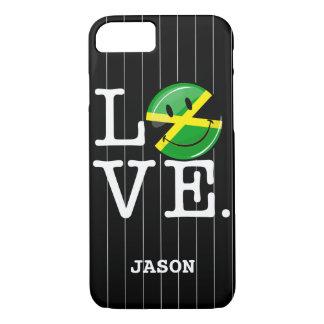 Liebe von lächelnder Flagge Jamaikas iPhone 8/7 Hülle
