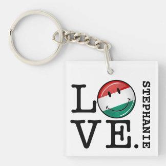 Liebe von lächelnder Flagge Ungarns Schlüsselanhänger