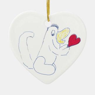 Liebe-Wanzen-Keramik-Herz-Weihnachtsverzierung Keramik Ornament